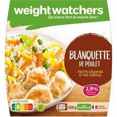 Weight Watchers blanquette de poulet aux légumes et riz 300g