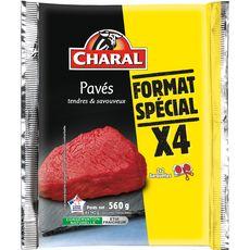 CHARAL Pavés de boeuf 4 pièces 560g