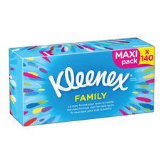 Kleenex Boîte de mouchoirs family x140