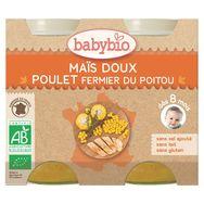 Babybio pot légumes et poulet fermier 2x200g dès 8mois
