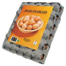 OVALIS Oeuf daté du jour de ponte 30 œufs