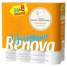 RENOVA Renova papier toilette yorrissime rouleau x24 +8offerts