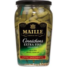 MAILLE Maille Cornichons extra fins cueillis main sélection grand croquant 380g 380g