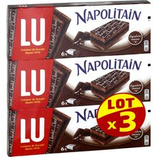 NAPOLITAIN Lu Napolitain chocolat 3x174g 3x6 gâteaux 3x552g