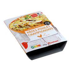 Auchan pâtes poulet champignon 300g