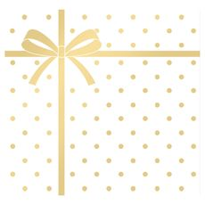 serviettes décorées 3 plis 33x33cm pochette cadeau or x20