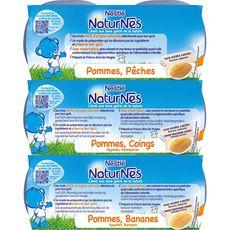 NESTLE Naturnes fruits pomme banane coing 12x130g