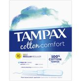 Tampax tampons pearl cotton regular x16
