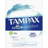 Tampax tampon pearl cotton comfort super x16