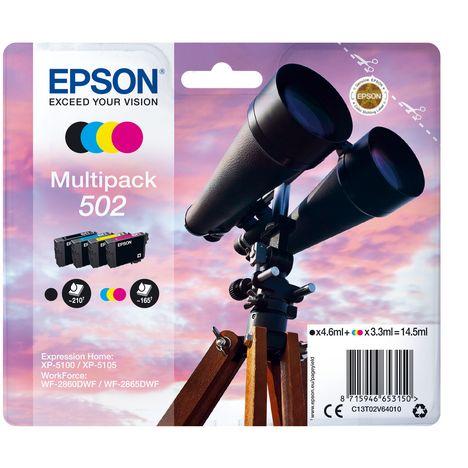 EPSON Cartouche N/C/M/J C13T02V6 502 Série Jumelles