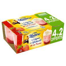 La Laitière liégeois fraise 4x100g +2offerts