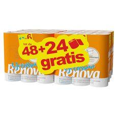 RENOVA Renova rouleau de papier toilette yorissime  x48 +24offerts 72 rouleaux