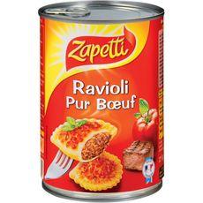 ZAPETTI Zapetti ravioli pur boeuf 1kg