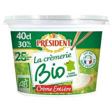 Président bio crème fraîche 30%mg 40cl