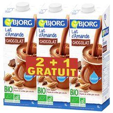 BJORG Bjorg boisson au lait d'amande bio 2x1l +1l offert Lot de 3 3x1l