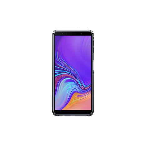 SAMSUNG Coque rigide pour Galaxy A7 2018 - Noir et transparent