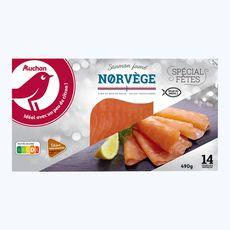 Auchan saumon fumé de Norvège x14 -490g