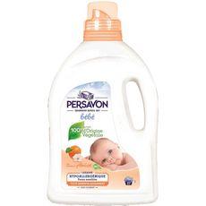 Persavon Lessive hypoallergénique pour bébé abricot bio 27 lavages 1,4l