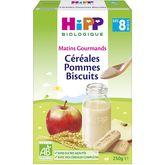 HiPP céréales pommes biscuits bio 250g dès 8 mois