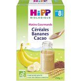HiPP Hipp Céréales banane cacao bio en poudre dès 8 mois 250g