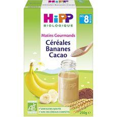 HIPP Céréales banane cacao bio en poudre dès 8 mois 250g