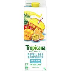 Tropicana pur jus de fruits réveil des tropiques 1l