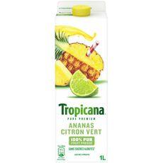 Tropicana pur jus ananas citron vert 1l