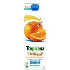 Tropicana pur jus douceur d'orange sans pulpe 1l