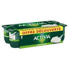 ACTIVIA Activia brassé nature 8x125g offre découverte