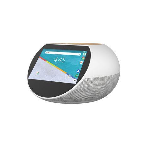ARCHOS Assistant vocal - Hello 5 - Gris et Bois - Bluetooth - WiFi - USB - Ecran tactile 5