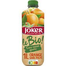 Joker jus d'orange sans pulpe bio 1l
