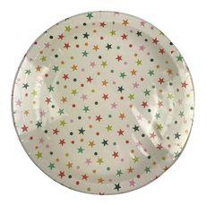Actuel assiettes en carton décorées étoiles 22cm x10