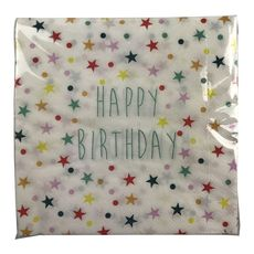 Actuel serviette décorée 2 plis multicolore étoiles 33x33cm