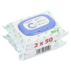 Cosmia baby lingette papier toilette 2x50