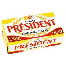 Président beurre doux plaquette 250g