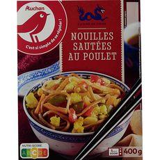 AUCHAN Nouilles sautées au poulet 1 portion 400g