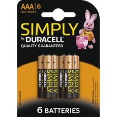 Duracell simply AAA x6