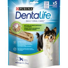 PURINA Purina Dentalife Friandise bâtonnet anti-tartre chien moyen 12 à 25kg x5 5 pièces