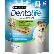 DENTALIFE Friandises bâtonnets anti-tartre pour petit chien 7 à 12kg 7 pièces