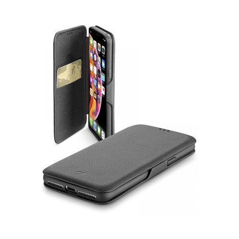 CELLULARLINE Etui folio porte carte pour iPhone XS Max - Noir