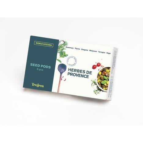TREGREN Kit 6 capsules de graines Herbes de Provence pour jardin d'intérieur