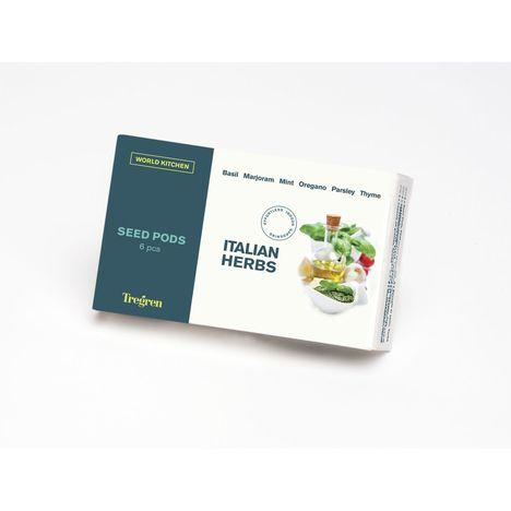 TREGREN Kit 6 capsules de graines Herbes Italiennes pour jardin d'intérieur