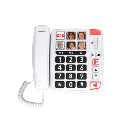 SWISSVOICE Téléphone filaire - Xtra 1110 - Blanc