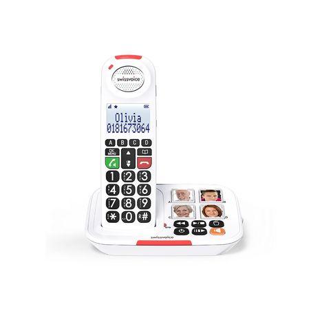 SWISSVOICE Téléphone sans fil - Xtra 2155 - Répondeur - Blanc