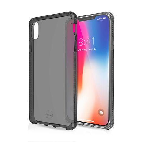 ITSKINS Coque semi-rigide pour iPhone XS Max - Noir translucide