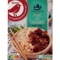 Auchan Porc au caramel et riz thaï 400g