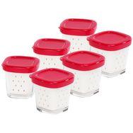 SEB Lot de 6 pots de yaourts XF100501 pour yaourtières Multi-Délices - Multi-Délices Express - Multi-Délices Compact
