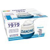 Danone 1919 yaourt lait entier nature 4x125g