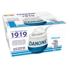 DANONE Danone 1919 Yaourt lait entier nature 4x125g 4x125g