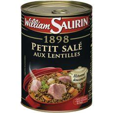 WILLIAM SAURIN Petit salé aux lentilles sans colorant sans exhausteur de goût 1 personne 420g